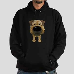 Big Nose Border Terrier Hoodie (dark)