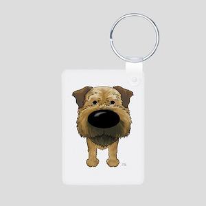 Big Nose Border Terrier Aluminum Photo Keychain