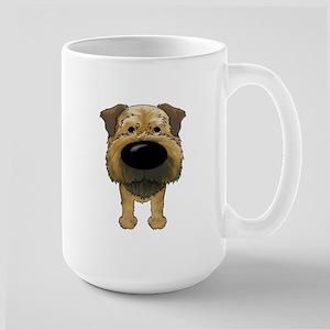 Big Nose Border Terrier Large Mug