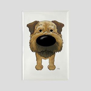 Big Nose Border Terrier Rectangle Magnet