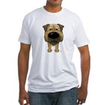 Big Nose Border Terrier Fitted T-Shirt