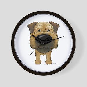 Big Nose Border Terrier Wall Clock