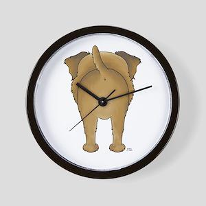 Big Butt Border Terrier Wall Clock