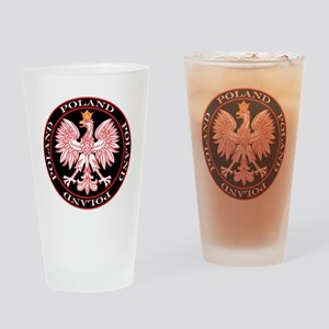 Round Polish Eagle Drinking Glass
