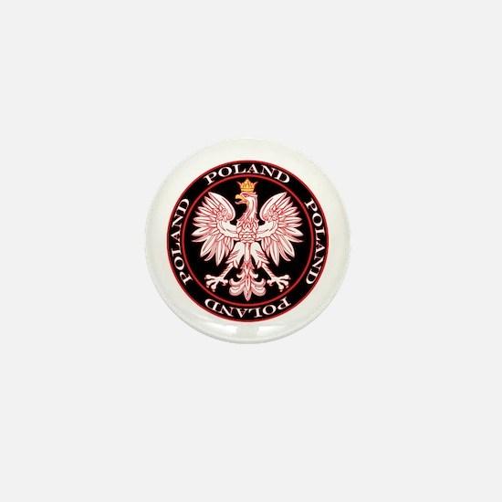 Round Polish Eagle Mini Button
