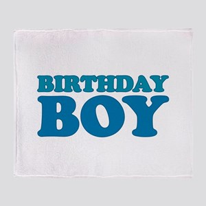 birthday boy (dark) Throw Blanket