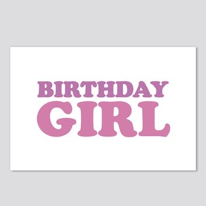 birthday girl (pale) Postcards (Package of 8)