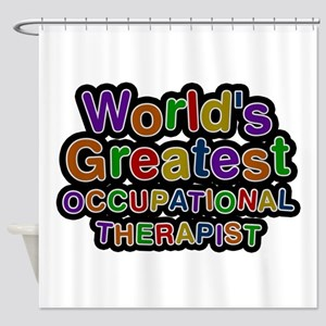 World's Greatest OCCUPATIONAL THERAPIST Shower Cur