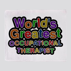 World's Greatest OCCUPATIONAL THERAPIST Throw Blan