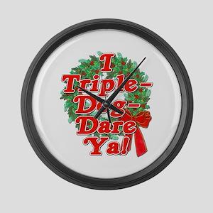 Triple Dog Dare A Christmas Story Large Wall Clock