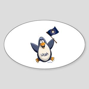 Utah Penguin Sticker (Oval)