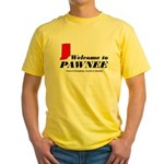 Welcome to Pawnee Yellow T-Shirt