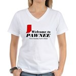 Welcome to Pawnee Women's V-Neck T-Shirt