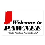 Welcome to Pawnee Sticker (Rectangle)