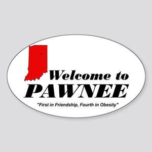 Welcome to Pawnee Sticker (Oval)