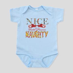 Nice Until Proven Naughty Infant Bodysuit