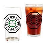 Green Luck Dharma Drinking Glass
