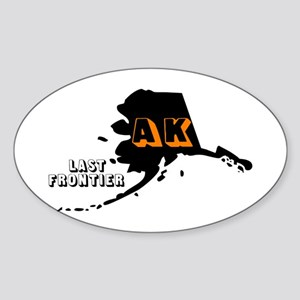 AK LAST FRONTIER Oval Sticker