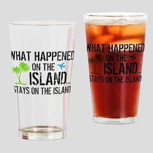 Happened on Island Drinking Glass