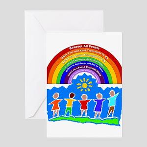 Kids Rainbow Principles Greeting Card
