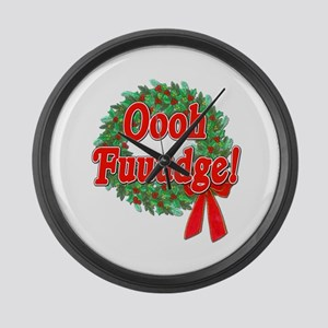 Oooh Fudge! A Christmas Story Large Wall Clock