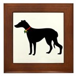 Christmas or Holiday Greyhound Silhouette Framed T