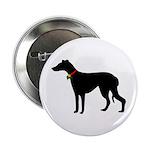 Christmas or Holiday Greyhound Silhouette 2.25