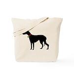 Christmas or Holiday Greyhound Silhouette Tote Bag