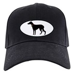 Christmas or Holiday Greyhound Silhouette Black Ca