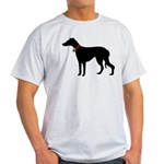 Christmas or Holiday Greyhound Silhouette Light T-