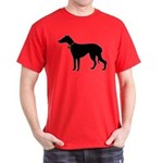 Christmas or Holiday Greyhound Silhouette Dark T-S