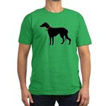 Christmas or Holiday Greyhound Silhouette Men's Fi