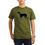 Christmas or Holiday Greyhound Silhouette Organic