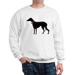 Christmas or Holiday Greyhound Silhouette Sweatshi