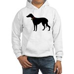 Christmas or Holiday Greyhound Silhouette Hooded S