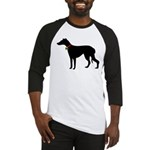 Christmas or Holiday Greyhound Silhouette Baseball