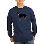 Christmas or Holiday Greyhound Silhouette Long Sle