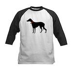 Christmas or Holiday Greyhound Silhouette Kids Bas
