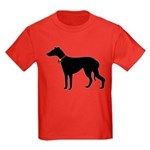 Christmas or Holiday Greyhound Silhouette Kids Dar