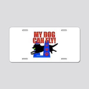 My Dog Can Fly Aluminum License Plate