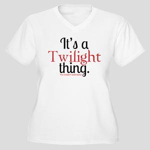Twilight Thing Women's Plus Size V-Neck T-Shirt