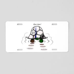 Bye-bye Racing Turtle! Aluminum License Plate