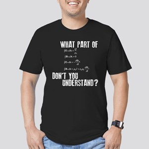 Funny Math Equation Men's Fitted T-Shirt (dark)