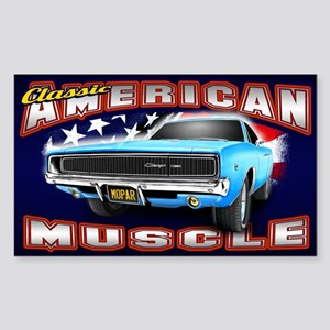 American Muscle - Charger Sticker (Rectangle)