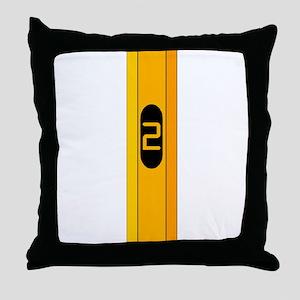 #2 Pencil Throw Pillow