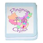 Pingnan China Map baby blanket