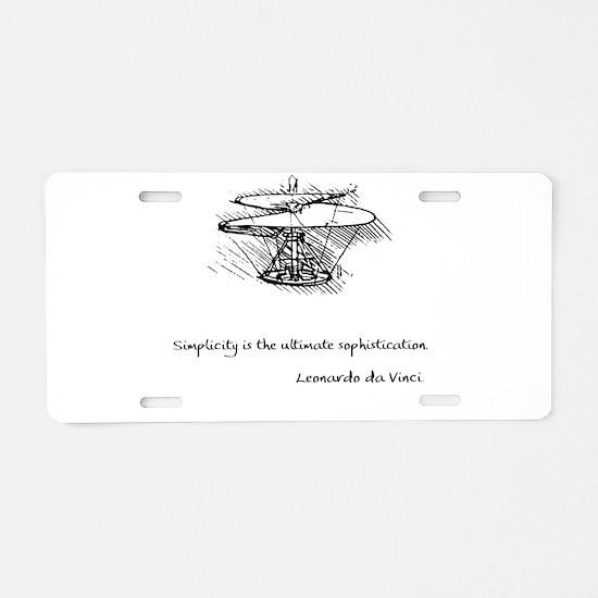Cool Da vinci Aluminum License Plate