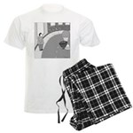 Desserted Streets (no text) Men's Light Pajamas