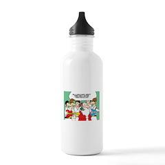 Santa's Rockin Christmas Water Bottle