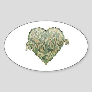 Army Mom Sticker (Oval)